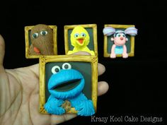 Sesame Street Cake Toppers by KrazyKoolCakeDesigns on Etsy