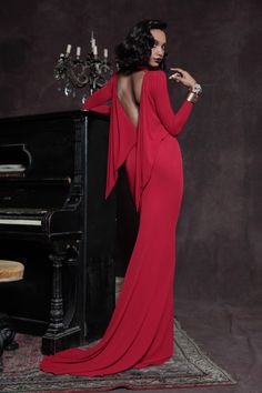 Dsquared PreFall--red gown-love!