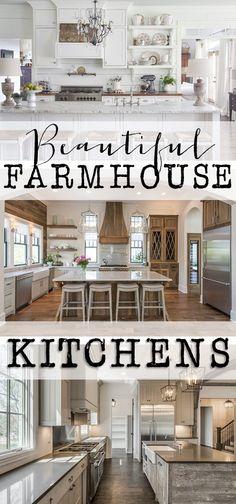 (houseofhargrove.com) Today I am sharing some beautiful, inspirational farmhouse kitchens. Check out these beautiful designs full of inspiration.