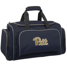 WallyBags 21-Inch University of Pittsburgh Panthers Duffel Bag, Blue