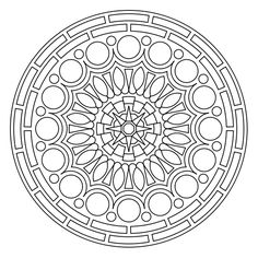 Free printable mandala coloring pages - my kids LOVE these, and so do I ;)