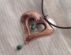 Copper heart design pendant