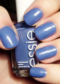 "Essie Smooth Sailing - ""A breezy lavender blue with a reflection of pearl"" nail polish Get Nails, Love Nails, How To Do Nails, Pretty Nails, Hair And Nails, Pretty Makeup, Essie Nail Polish, Nail Polish Colors, Gel Polish"