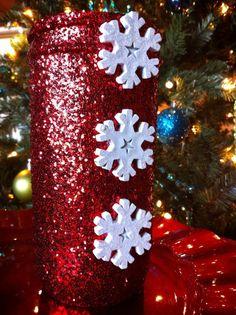 Christmas Mason Jar Table Decor by tinamarietwo on Etsy