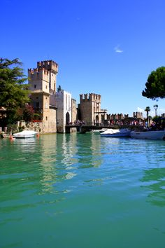 The Castle of Sirmione (13th century), Lake Garda, Lombardy, Italy