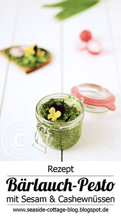 Seaside-Cottage-Blog: Leckeres Bärlauch-Pesto mit Sesam und Cashewnüssen