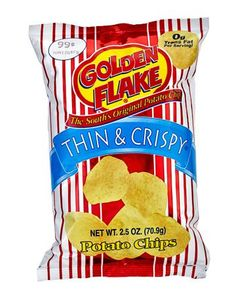 They have to be Golden Flake, the South's Original Potato Chip, made in Birmingham, Alabama. Description from thesouthinmymouth.com. I searched for this on bing.com/images