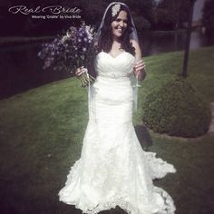 30ff8bf087bb Stunning real bride Kylie looks radiant in 'Grable' by Viva Bride 💕 Could  this
