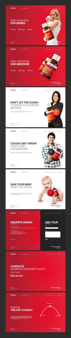 http://www.behance.net/gallery/Website-Concept-for-Novartis-Sinecod-Cough-Syrup/5932567 #webdesign