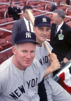 Whitey Ford & Roger Maris during the 1960 World Series