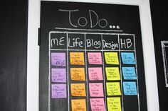 If It's Not Baroque...: Chalkboard Sticky Note To Do List