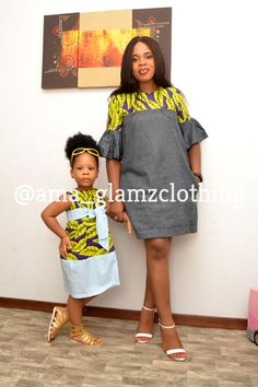Momma and Me African Inspired Dress/ African Fashion/ African Style/ Ankara Girl Dress/ Kiddies Ankara Dress Product Information African Fashion Ankara, Latest African Fashion Dresses, African Print Fashion, Africa Fashion, Dress Fashion, Fashion Outfits, African Dresses For Kids, African Print Dresses, African Prints