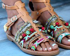Sandali in pelle artigianali fatte su ordinazione sandali