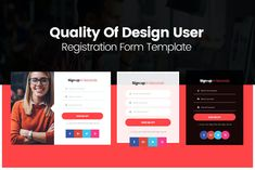 Quality Of Design User Registration Form Templates PSD Registration Form, Web Forms, Web Ui Design, Ui Kit, Video Editing, Photoshop, Templates, Graphics, Unique