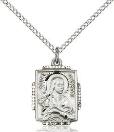 St. Maria Goretti Pendant (Sterling Silver) by Bliss   Catholic Shopping .com