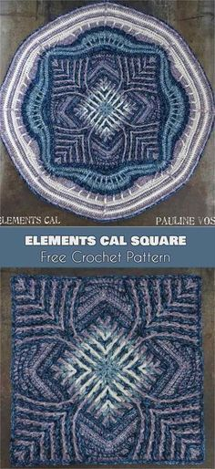 Elements Cal Square for Blankets, Pillows, Centrepieces [Free Crochet Pattern] Photos: crafty_cc This beautiful square is an absolute must this winter. Designed by Sandra Kuijer, Elements Cal started in December 2017 and has been a hit Crochet Mandala Pattern, Crochet Blocks, Granny Square Crochet Pattern, Crochet Stitches Patterns, Crochet Squares, Crochet Granny, Crochet Designs, Granny Squares, Crochet Afghans