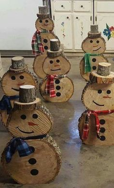 Wooden Snowmen - no directions :( More