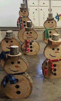 Wooden Snowmen - no directions :(                                                                                                                                                                                 More