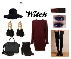 """""""Witch"""" by boglarka-balogh on Polyvore featuring Maison Margiela, Aéropostale, Hansel from Basel, Salvatore Ferragamo, Givenchy and Serge Lutens"""