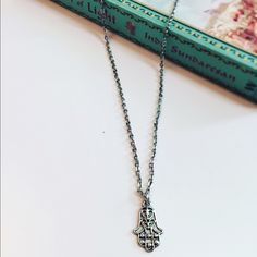 ✋Hamsa Necklace*✋ This necklace is brand new. My sister and I make these with supplies from the craft store, so they have never been worn and are each unique (example: chain, color, length, accents,etc). All chains are nickel-free. Jewelry Necklaces