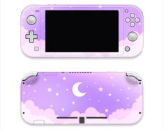 Purple Starry Sky Full Wrap Vinyl Skin for Nintendo Switch Nintendo Lite, Nintendo Switch System, Nintendo Switch Case, Nintendo Games, Video Game Organization, Cute Spiral Notebooks, Nintendo Switch Accessories, Unicorn Fashion, Space Games