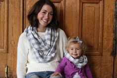 So cozy grey plaid infinity scarf set. Order in all sizes including mommy & me set! Makes great Christmas gifts.
