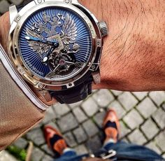 I absolutely love this Louis Moinet Russian Eagle Tourbillon watch. It is now my favorite one ever. #neednow #watches