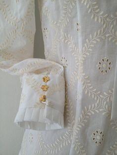 carlota white eyelet long sleeve blouse by nilsapuig on Etsy