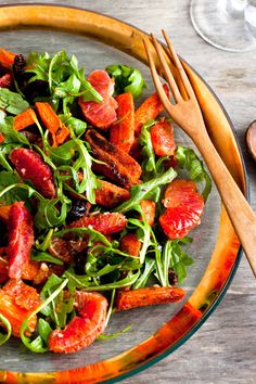 NYT Cooking: Here, blood orange segments are tossed into a salad of roasted carrots, salty olives and freshly ground spices – a refreshing, satisfying and stunning dish with sunset colors.