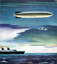 Luxury dirigible of the future