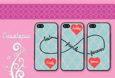 Items similar to 3 iPhone iPhone iPhone 4 Samsung Galaxy case monogram blue pink quatrefoil best friends forever BFF Protective Cases on Etsy Best Friend Cases, Bff Cases, Best Friends, Friends Forever, Cool Cases, Cool Phone Cases, Phone Covers, Galaxy S3, Samsung Galaxy