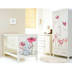 Elefántos kislány gyerek falmatrica #falmatrica #babaszoba #elefánt #gyerekszoba #faldekoráció #virágok Bear Cartoon, Cribs, Toddler Bed, Furniture, Home Decor, Cots, Child Bed, Cartoon Bear, Decoration Home
