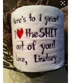 Paper Anniversary Custom Gift Personalized Embroidery F.- Paper Anniversary Custom Gift Personalized Embroidery Fast Shipping Funny Last Minute Anniversary Gift, I Love the Shit Gag Gift - Gifts For Boyfriend Long Distance, Diy Gifts For Boyfriend, Boyfriend Ideas, Meaningful Gifts For Boyfriend, Christmas Gift For Your Boyfriend, Surprise Boyfriend, Boyfriend Stuff, 1 Year Anniversary Gifts, Boyfriend Anniversary Gifts