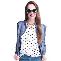 Womens New Fashion Elegant Stand Collar Zipper Short PU Leather Jacket