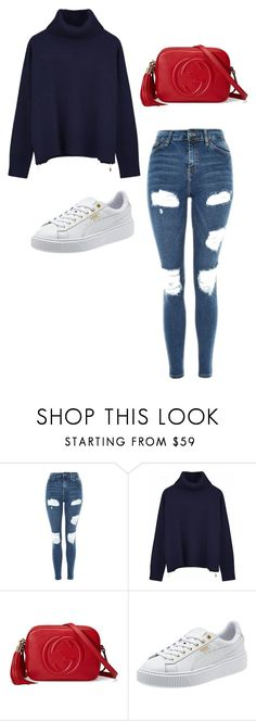 Casual by ofwfasion on Polyvore featuring Ille De Cocos, Topshop and Gucci