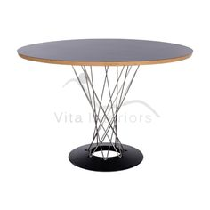 Contemporary White Dining Table Modern Icon Round High Gloss White An