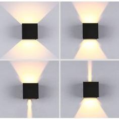 2 Pieces Of Waterproof Wall Lamp Led Simple Dimming Angle Wall Lamp Outdoor Garden Wall Outdoor Waterproof Porch Lights Wall Lights, Sconces, Porch Lighting, Sconce Lamp, Cube Lamps, Lamp Light, Outdoor Walls, Outdoor Wall Lamps, Led Outdoor Lighting