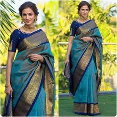 You searched for kanchipuram saree - Online Sale India Blue Silk Saree, Soft Silk Sarees, Latest Silk Sarees, White Saree, Cotton Saree, Karen Willis Holmes, Indische Sarees, Elie Saab, Silk Saree Kanchipuram