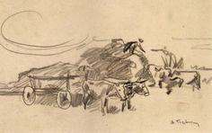 Βάσος Γερμενής 'Σκηνικό φάρμας' σχέδιο