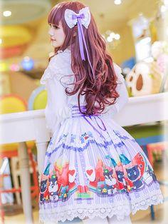 Print Lolita Skirt Multicolor Trendy Chiffon Skirt - Milanoo.com