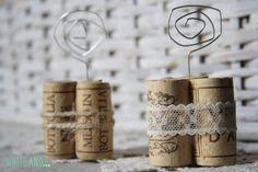 Satz von 20 Wein Korken Ort Kartenhalter mit Schnur oder Seil, Hochzeit Tisch