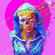 yellow bastard #art #artwork #artist #creative #create #draw #drawing #drawings #illustration #illustrator #digitalart #digital #instaart #myart #yellow #skull #skeleton #color #colors #colour #colours #pop #popart #pink #xsullo