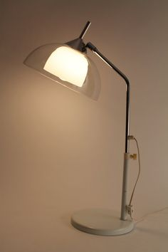12 in. wide GLASS SHADE table lamp by OMI Koch & by VINTAGELAMPDEN