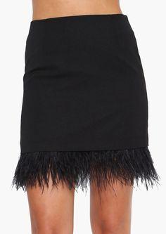 Feather Fascination Mini Skirt