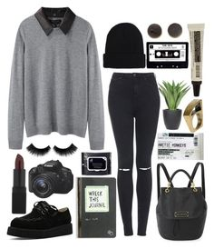 """""""wreck it"""" by annamalana ❤ liked on Polyvore featuring rag & bone, Topshop, Handle, NARS Cosmetics, Brixton, Lux-Art Silks, Eos and Aesop"""