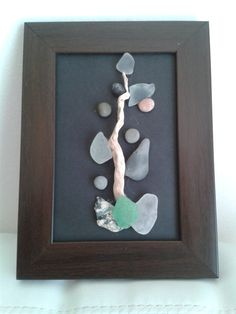 3D Pictures-3DArt-Beach Stones Art-Pebbles and Sea Glass of Mediterranean ''Jack and the Pea''