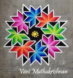 Rangoli Designs Simple Diwali, Rangoli Designs Flower, Free Hand Rangoli Design, Rangoli Patterns, Rangoli Designs With Dots, Rangoli Designs Images, Mehndi Art Designs, Rangoli With Dots, Beautiful Rangoli Designs