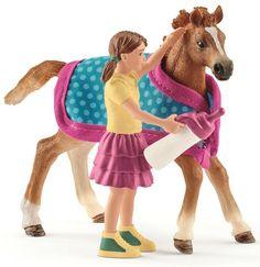 Schleich Foal with Blanket www.minizoo.com.au