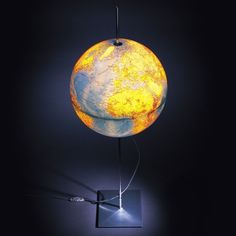 Glowing Earth lamp. It shows a topological map of the world when lit, and when turned off it's a political map with defined country borders, capitals, etc--in other words, it's awesome.
