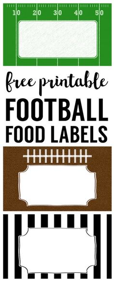 Football food labels free to print. DIY football party decoration for a super bowl party, football team party, football birthday party or baby shower. Football Banquet, Football Tailgate, Football Birthday, Sports Birthday, Sports Party, Birthday Party Games, Tailgating, Diy Birthday, Football Season